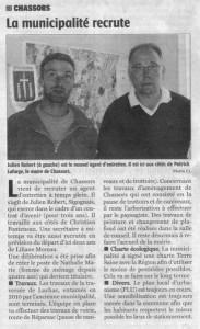 Article Charente Libre du 30/09/2014