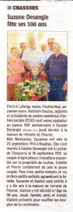 Article Charente libre du 04/10/2014