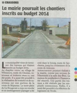 Article Charente Libre du 27/03/2015
