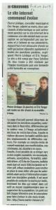 Le site internet de la commune sur la Charente libre