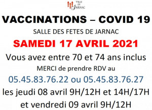Vaccination COVID JARNAC